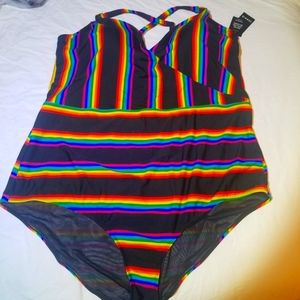 41PC RAINBOW STRIPE SURPLICE